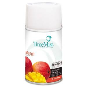 TimeMist Products - TimeMist - Metered Fragrance Dispenser Refills, Mango 6.6 oz. Aerosol, 12 Cans/Carton - Sold As 1 Carton - For use with TimeMist Metered Aerosol Dispensers (sold separately). - Scientifically counteract mal-odors. - 30-day refill.