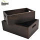 Wholesale Old style Dark Color Storage Wooden Gift Box