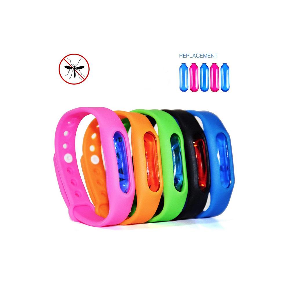 Großhandel Anti-Moskito geprägte Silikon-Armbänder