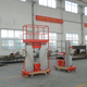 Double Mast Aluminum Electrical Aerial Manlift Hydraulic Lifting Platform