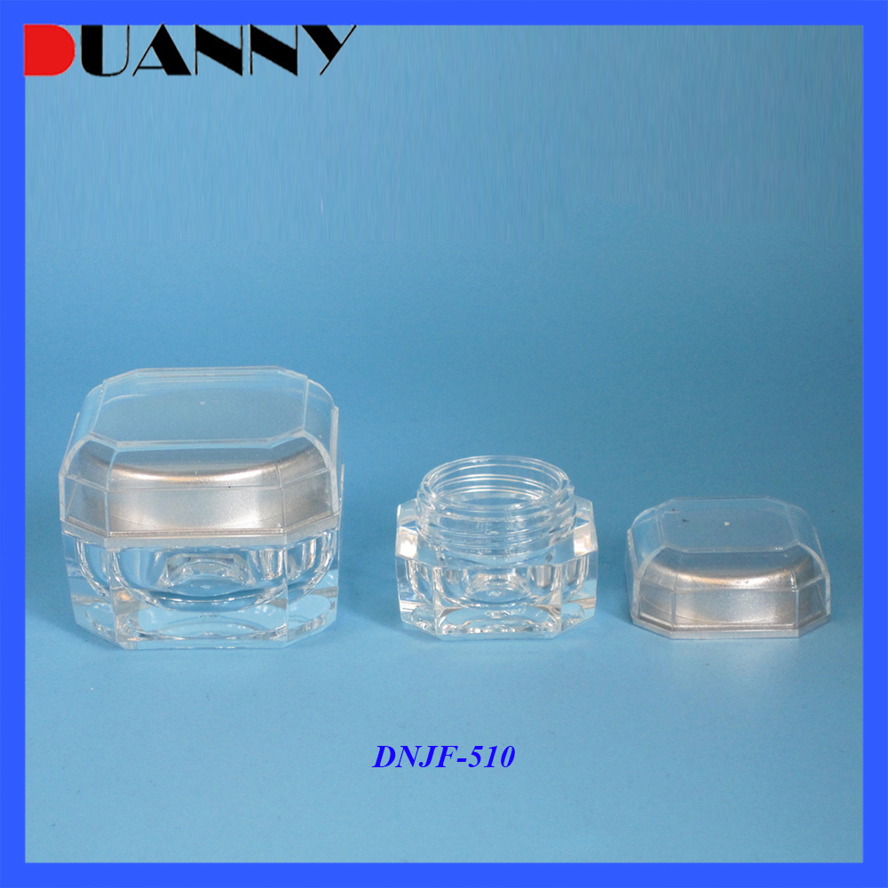 Best Quality Acrylic Square Jar Packaging,Best Quality Square Jar