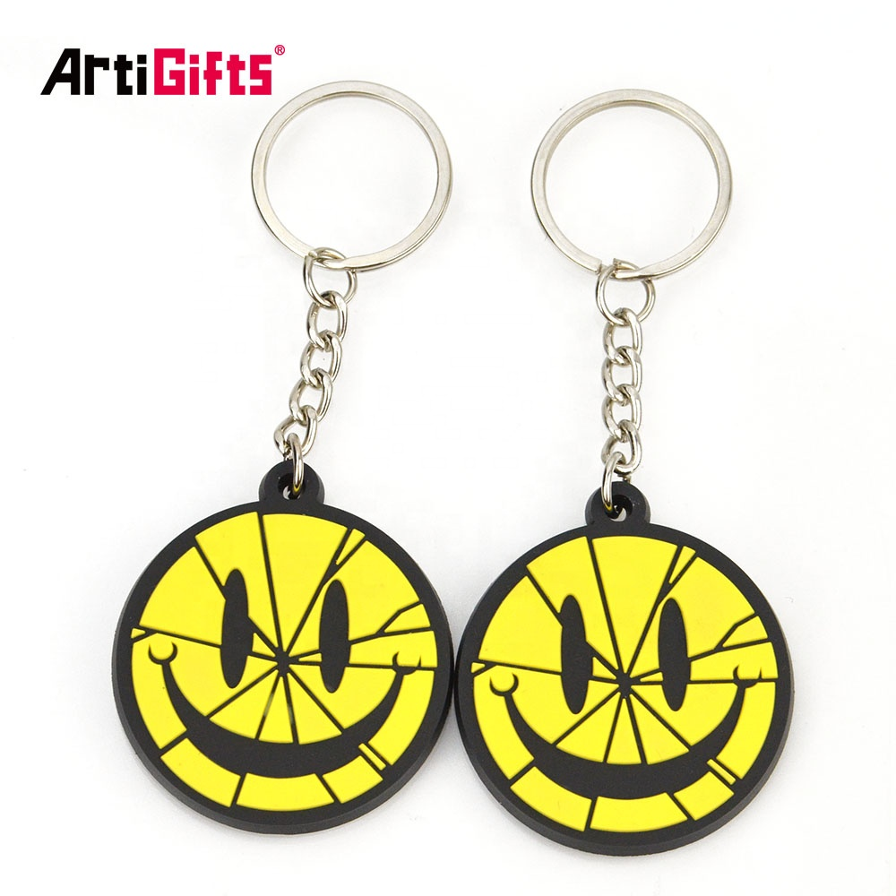 No Minimum Key Chain Factory Custom 3d Rubber Soft Pvc Keychain