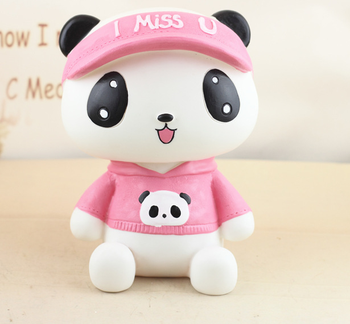 Cute panda Money bank Hand-made money bank in oriental style