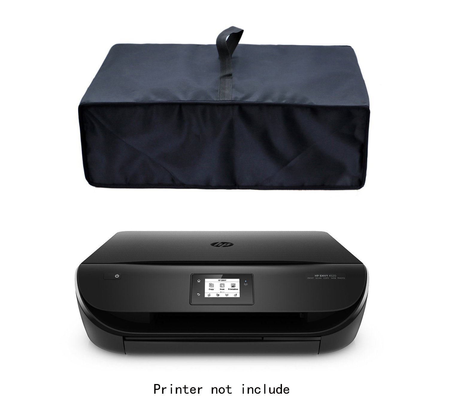 Get Quotations · Wanty Black Antistatic Water proof Dust proof Nylon Fabric Printer Cover Case Protector for