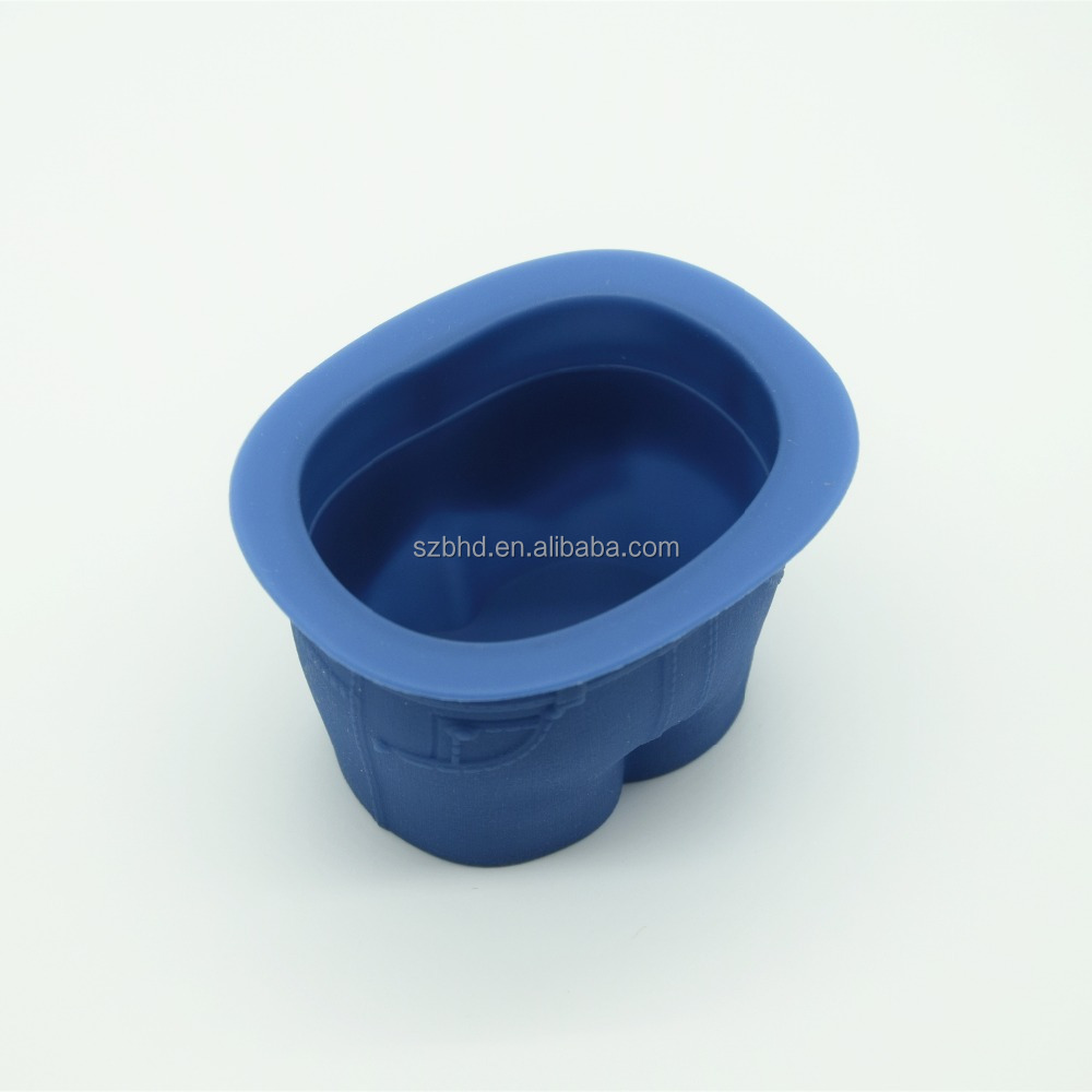 food grade custom silicone 6 cups jeans shaped Cake Mold/bakeware/baking budding mold