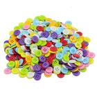 Sewing Label Manufacturer Custom Made Colorful Fancy Green and Blue Plastic Resin Buttons for Children Clothing