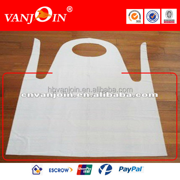 Plastic Disposable 100% Spun Polyester Aprons