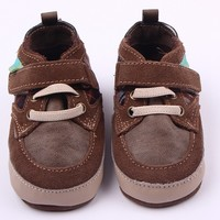 Manufacturers leather soft bottom The first layer suede toddler shoes
