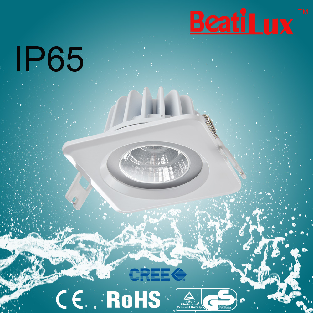 bathroom waterproof use 9W/15W dimmable ip65 LED downlight cob led downlight