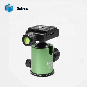 Selens BH-30-2K Panoramic Swivel Tripod Ball Head, 1/4 Screw Mount Camera Tripod With Quick Release Plate - Green