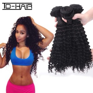 TD HAIR WholeSale 9A Virgin Brazilian Hair Bundles Afro Kinky Curly Human Natural Color 100% Human Hair