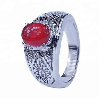 0f3dcee79cac Plata para hombre anillos de plata anillos de piedra barato anillos de Rubí