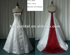 A-line Satin Bridal Gown