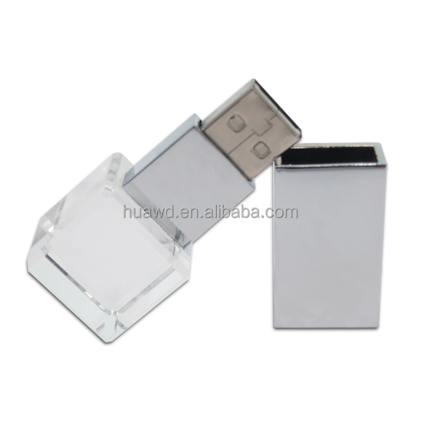 Favorites Compare 2014 wholesale crystal usb flash drive with LED light,Crystal usb drives cheap bulk