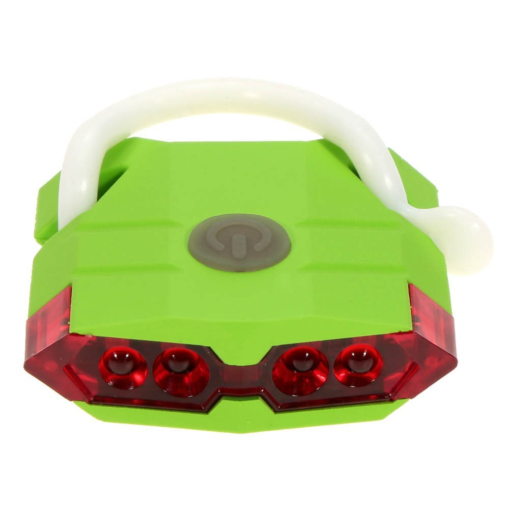 Bike Tail Light USB Chargeable 4 LED Red Bike Rear Light Bicycle LED Tail Light Night Cycling Lighting -- Green