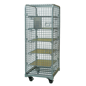 Warehouse transport demountable galvanized wire mesh roll container, rolling trolley, hand carts