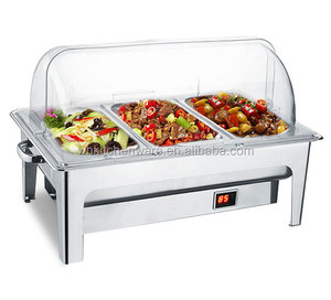Low MOQ 25 days Large Quantity Loading Stainless Steel Hot Food Display Warmers