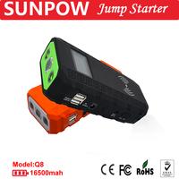 SUNPOWWireless quick charge jump starter 16,500mAh super power bank portable 12V battery booster jumper