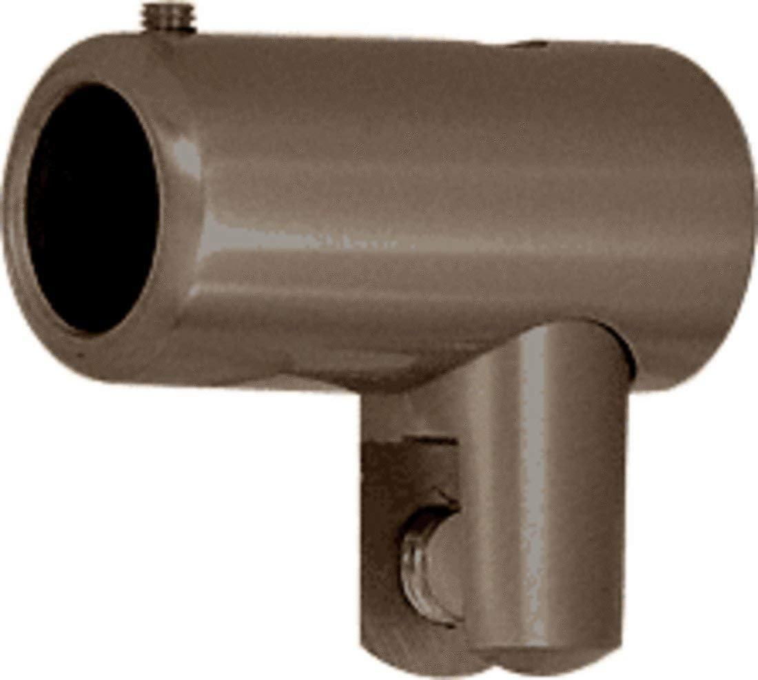 C.R. LAURENCE S50RB CRL Oil Rubbed Bronze Support Bar U-Bracket for 3/8 and 1/2 Glass by C.R. Laurence