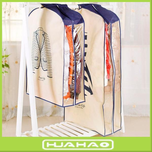 non woven dress cloth garment bag suit anti dust cover