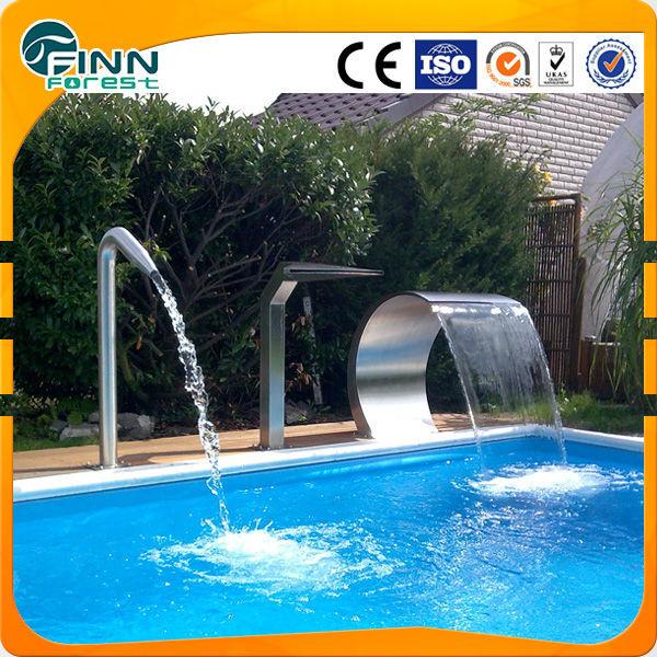 Ornament k nstliche hotel spa pool dekoration f hrte wasserfall licht outdoor wasserfall brunnen - Pool dekoration ...