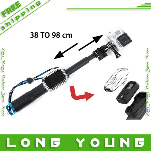 Go Pro 98cm Handheld Monopod Remote Pole With WIFI Remote Housing And Tripod