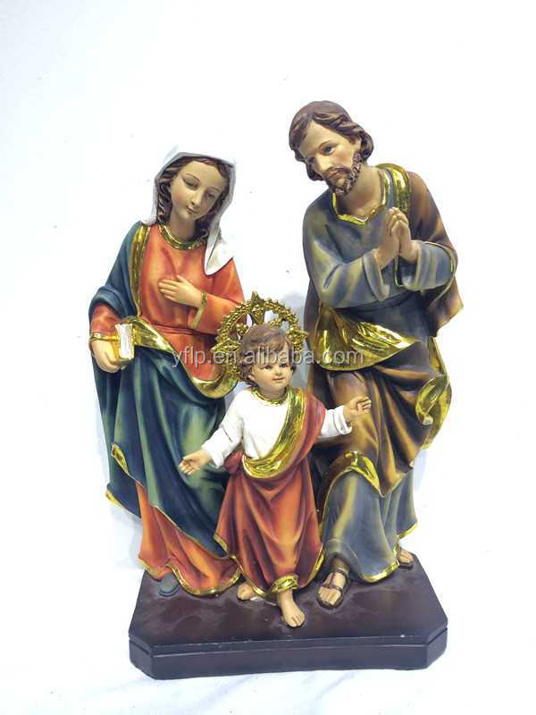 2016 Factory poly resin religious holy family statues religious figures