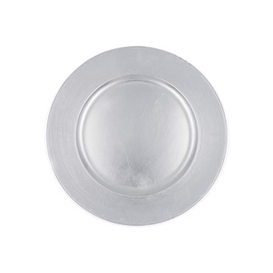 Wholesale 13 Inch Decorative Silver Round Plastic Charger Dinner Plate