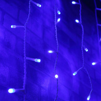 Hot sell green decorating with fairy string icicle led curtain indoor christmas light