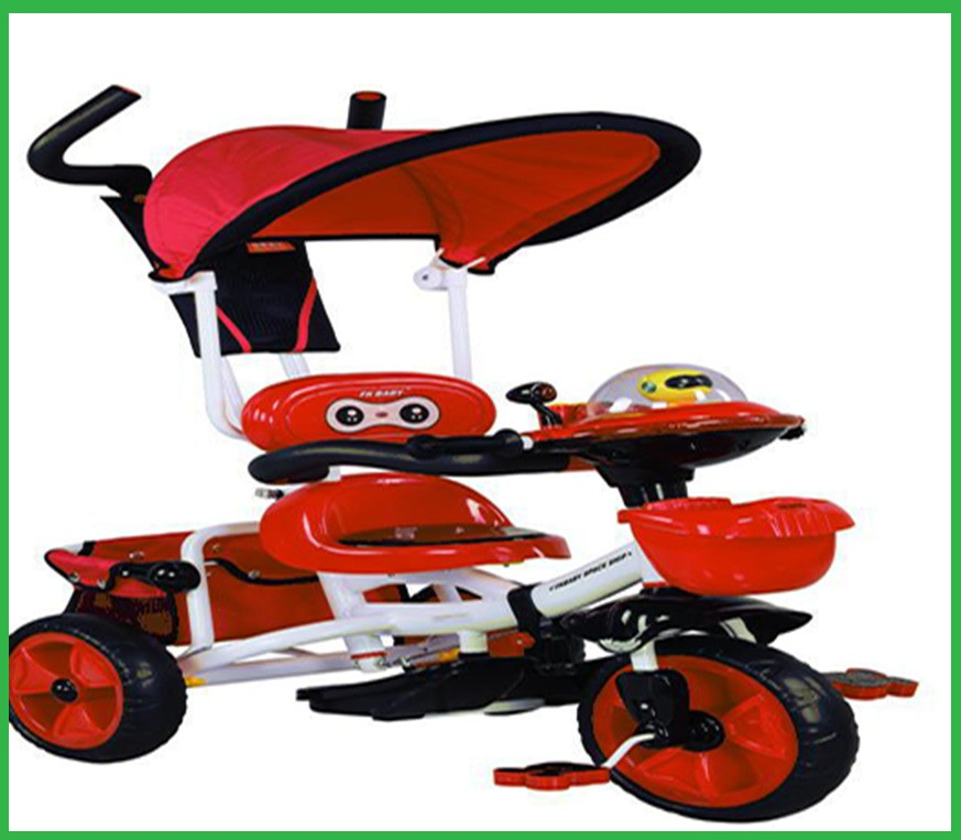 It is best baby stroller with fashion tent ,pedal ,plastic toy kids trike animal head shape tricycle pedal bike