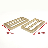 Shoulder strap buckle for handbags 58mm Curved luggage buckles in brushed gold plating