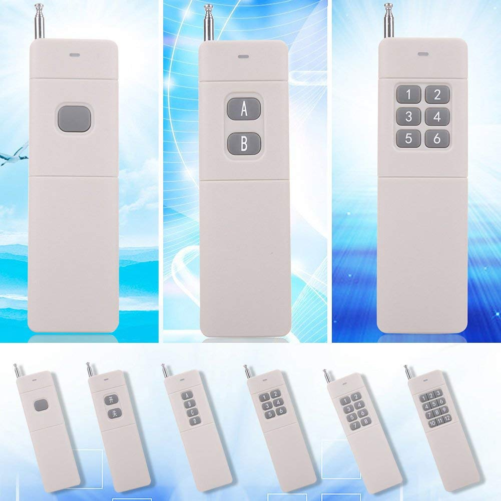 ERTIANANG 1 Pc Universal Electric 433mhz 3000m Wireless Remote Control With 2-12 Buttons Practical High Power Wireless Remote Control