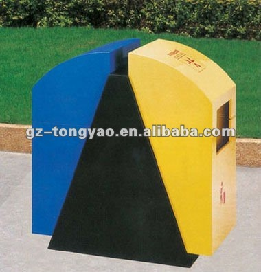big capacity waste sorting recycle outdoor metal trash cans