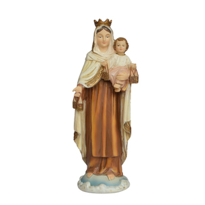 Resin catholic religious crafts gift christian souvenirs jesus mother virgin mary and baby jesus statue