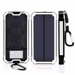 solar power bank Charging Backup Battery Case Eternal Charger Portable Battery Cover Power Bank case for iphone and samsung