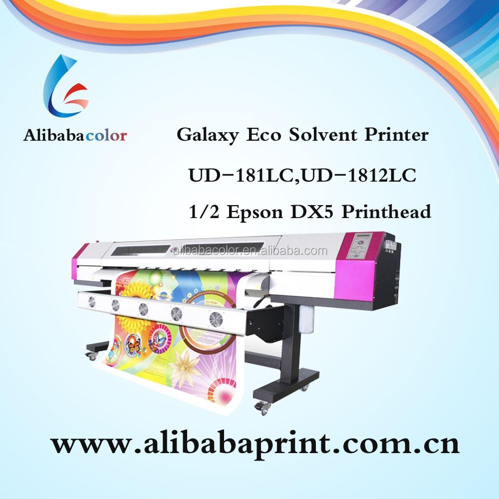 Galaxy Ud-1812la Eco Printer 6 Feet Eco Solvent Printer With Dx5 ...