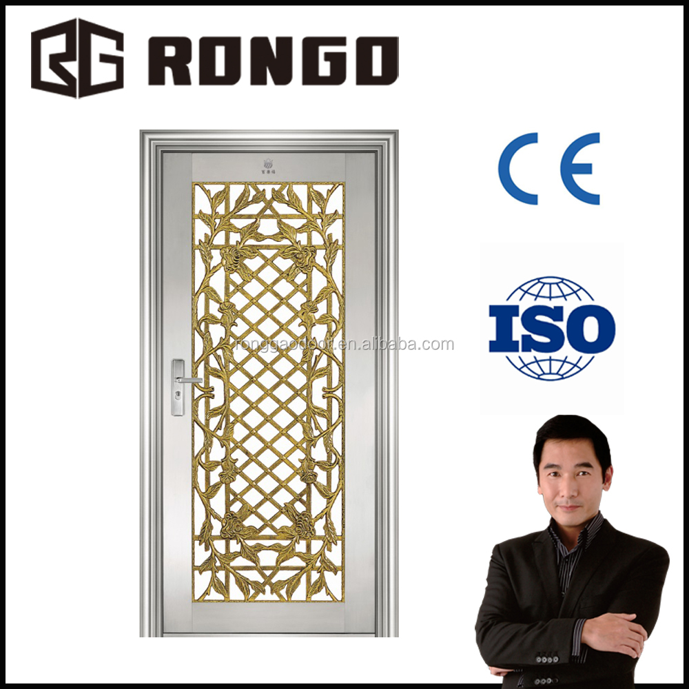 China manufacturer stainless steel storm doors/modern iron gates