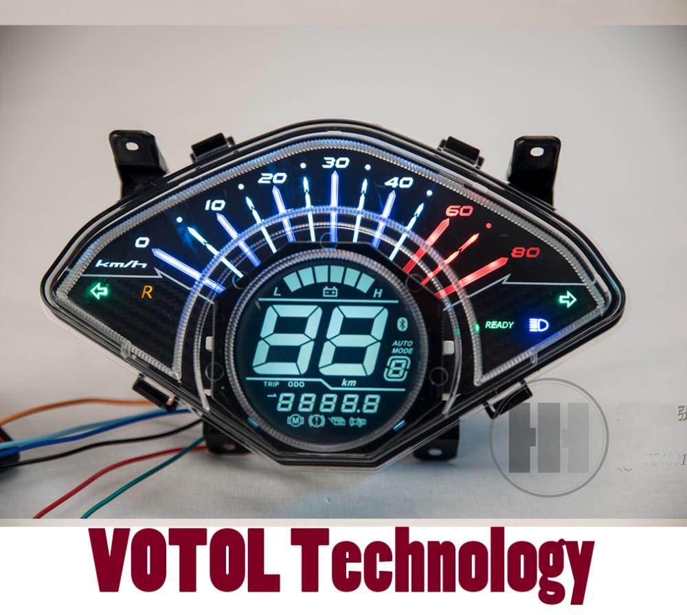 Electric Motorcycle Digital Speedometer