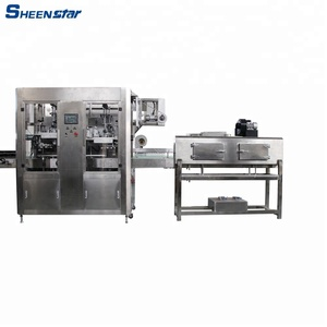 hot export Automatic drinking water sleeve labeling machine