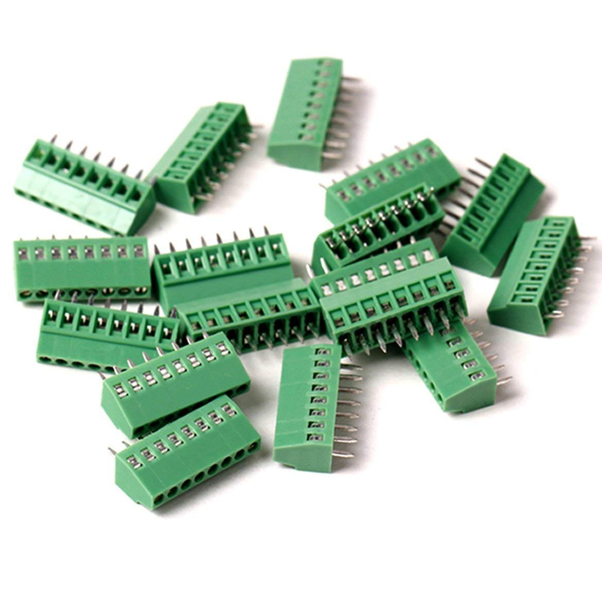 "20pcs/lot E-Simpo 2.54mm Pitch (0.1"") PCB Screw Terminal Block, 2.54mm Rated 150V6A CE UL,Copper Material Rohs. (2.54mm 7P)"