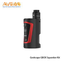 New Products 2017 Squonk Box Mod Express Ali GeekVape GBOX Squonker Kit Powered By Dual 18650 Batteries