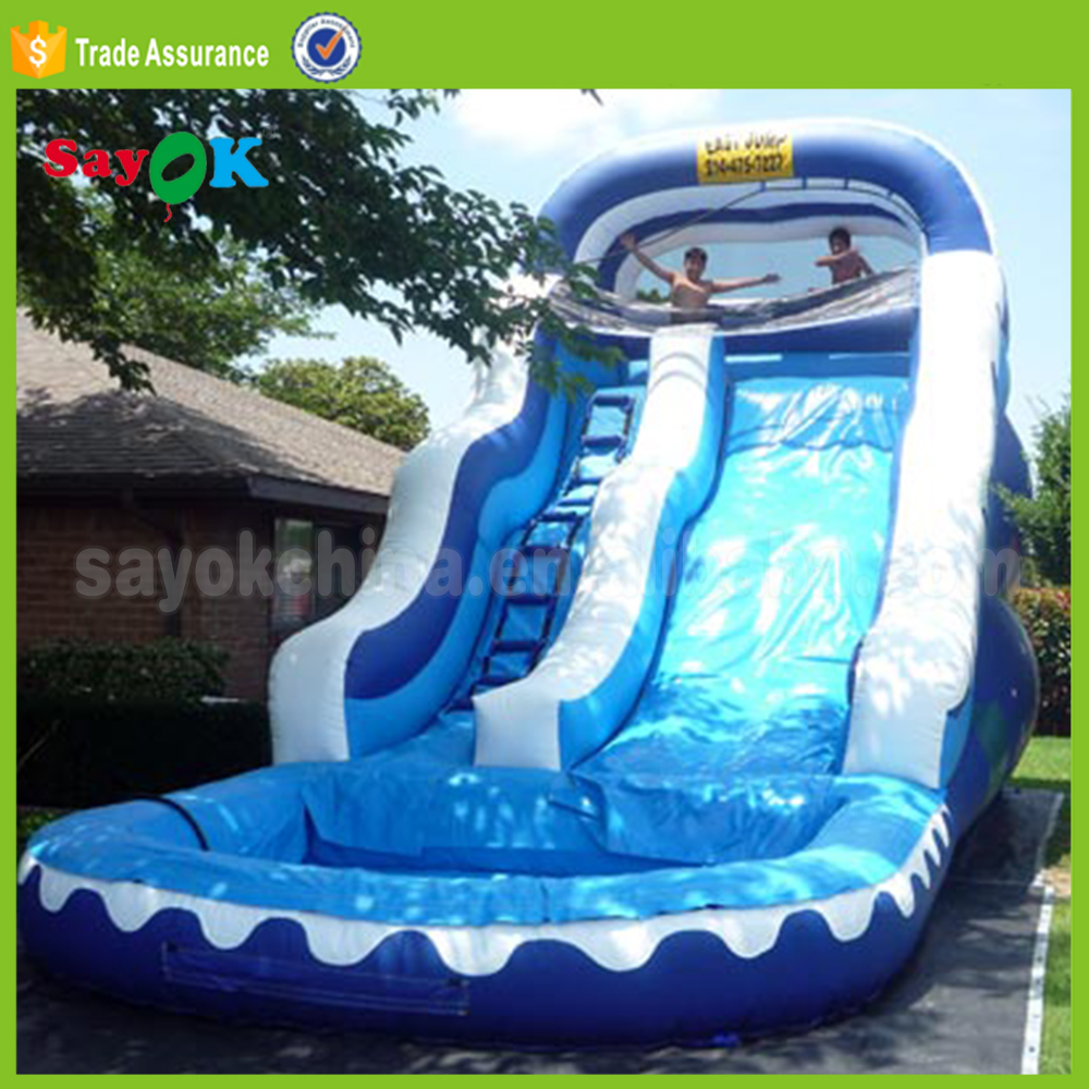 Commercial Bounce Round Giant Inflatable Water Slide For Sale