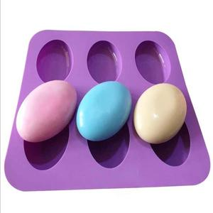 High Quality 6 Cavities Oval Handmade Silicon Mold Soap