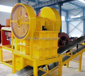 Diesel engine jaw crusher stone crusher with wheel for mining