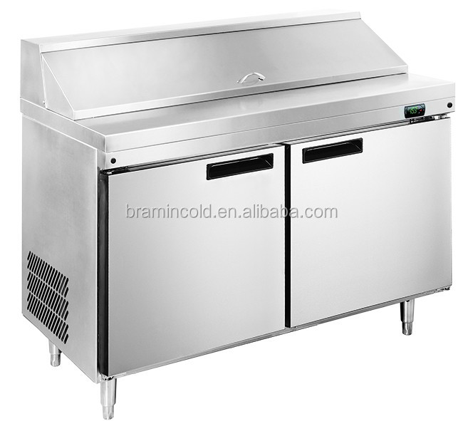 Commercial Salad Bar Display Sandwich Counter Cabinet Prep