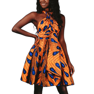 Wholesale Latest Design Women Summer Fashion Printing African Dashiki Dress