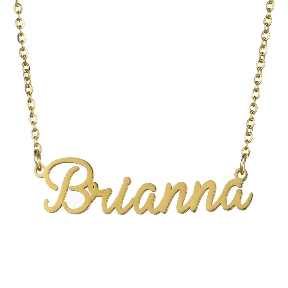 High Quality Stainless Steel Jewelry Wholesale Brianna Chelsea DIY Customized Personalized Gold Customized Name Necklace