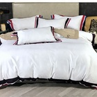 Southeast Asia Style Hotel Luxury Satin duvet cotton Bed Sheet Bedding Comforter Set