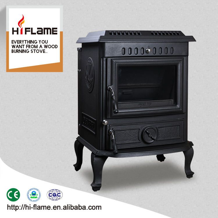 HiFlame factory direct salling cast iron stove with cast iron back boiler HF443B