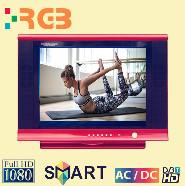 "21"" Grey ultra slim CRT TV in Thailand /HOT SALE IN DUBAI/ with FTA"